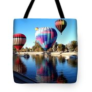 Reflections Along The Channel Tote Bag