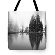 Reflections And Fog Tote Bag
