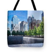 Reflections At 911 Memorial Tote Bag