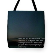 Reflections At Night Tote Bag