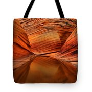 Reflections At The Wave Tote Bag