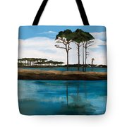 Reflections At Western Lake Tote Bag
