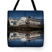 Reflections From The Duke Of Lancaster Ship  Tote Bag