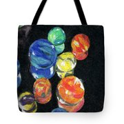 Reflections In Black Tote Bag