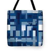 Reflections In Blue Tote Bag