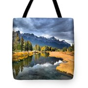 Reflections In Canmore Tote Bag