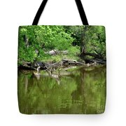 Reflections In Green Tote Bag