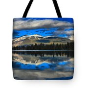 Reflections In Lake Beauvert Tote Bag