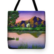 Reflections In The Breeze Tote Bag