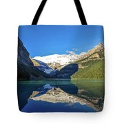 Reflections In The Water At Lake Louise, Canada Tote Bag