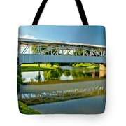 Reflections In Yellow Creek Tote Bag