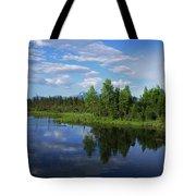 Reflections Lake Pioneer Peak Alaska Tote Bag