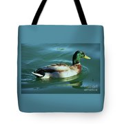 Reflections From A Mallard In Omaha Tote Bag