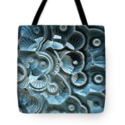 Reflections Of A Fractal Fossil Tote Bag