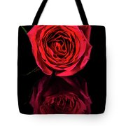 Reflections Of A Red Rose Tote Bag