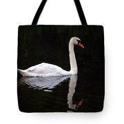 Reflections Of A Swimming Swan Tote Bag