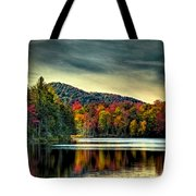 Reflections Of Autumn On West Lake Tote Bag