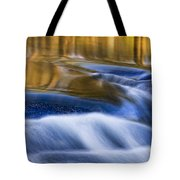 Reflections  Of Linville River Tote Bag by Ken Barrett