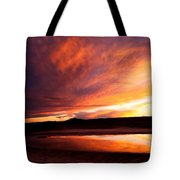 Reflections Of Red Sky Tote Bag