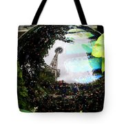 Reflections Of The Space Needle Tote Bag