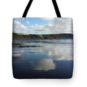 Reflections Of Widemouth Bay Tote Bag