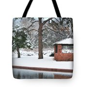Reflections Of Winter Tote Bag by Betty LaRue