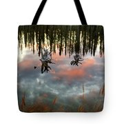 Reflections Off Pond In British Columbia Tote Bag