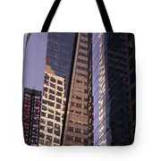 Reflections Off The Buildings Tote Bag