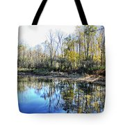 Reflections On Blue Tote Bag