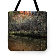 Reflections On Cathedral Rock Tote Bag