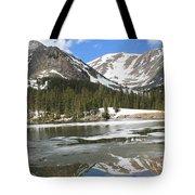 Reflections On Chinns Lake 5 Tote Bag