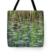 Reflections On Duck Pond Tote Bag