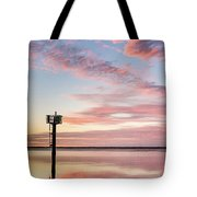 Reflections On Falling Dusk Tote Bag