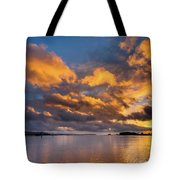 Reflections On Fire Sunset Tote Bag