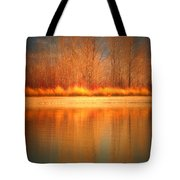 Reflections On Fire Tote Bag