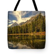 Reflections On Jenny Lake Tote Bag