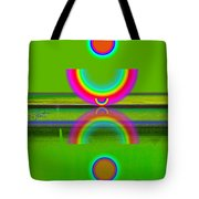 Reflections On Lime Tote Bag