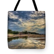 Reflections On The Beach Tote Bag