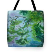 Reflections On The Mill Pond Tote Bag