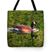 Reflections - Swimming Goose 003 Tote Bag