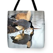 Reflective Geese Tote Bag