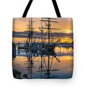 Reflectons On Sailing Ships Tote Bag