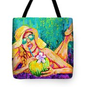 Moment In Paradise, Vacation Painting Tote Bag