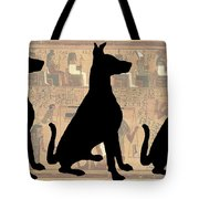 Regal Sit, Ancient Egyptian Background Tote Bag