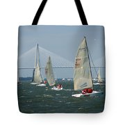 Regatta In Charleston Harbor Tote Bag