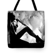 Regreting Mood V2 Bw Tote Bag