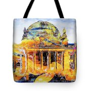 Reichstag And Flower Tote Bag