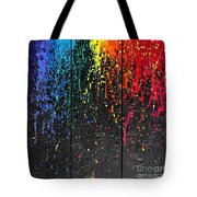 Reign Of Color Tote Bag by Annie Young Arts