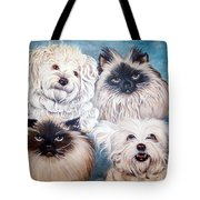 Reigning Cats N Dogs Tote Bag