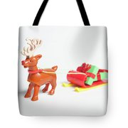 reindeer and Sleigh ii Tote Bag